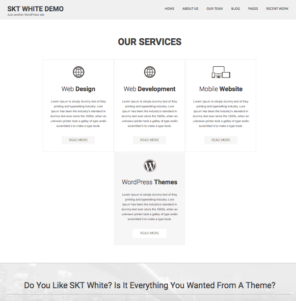 Temas Gratuitos WordPress: SKT White | Dinapyme