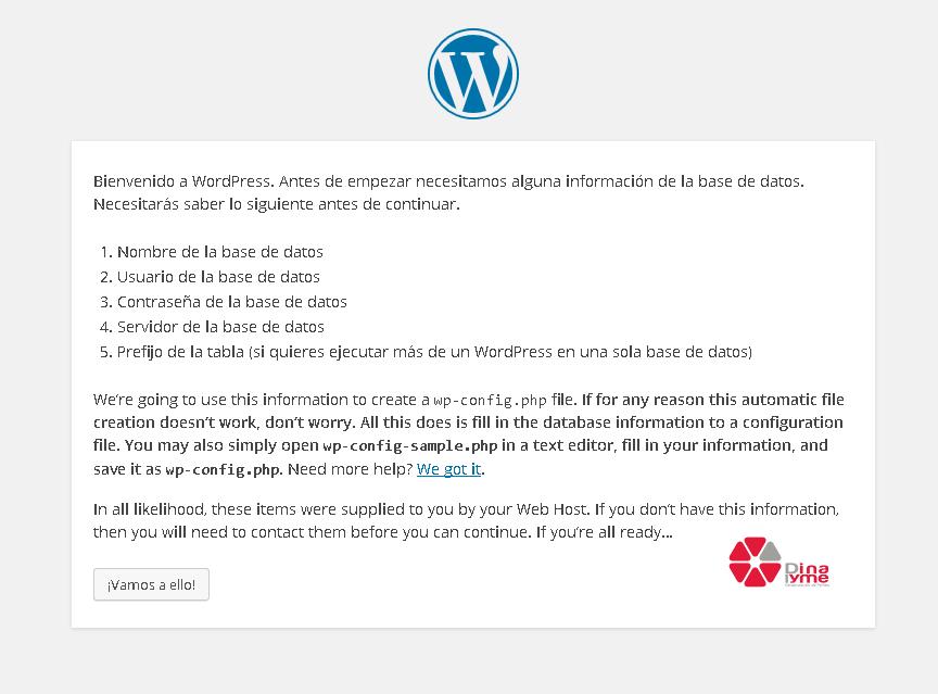 Instalando wordpress 4.4 rc1