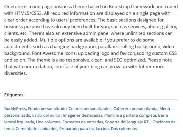 Temas Gratuitos WordPress - Onetone