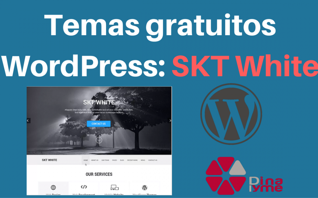 Temas Gratuitos WordPress: SKT White | Dinapyme