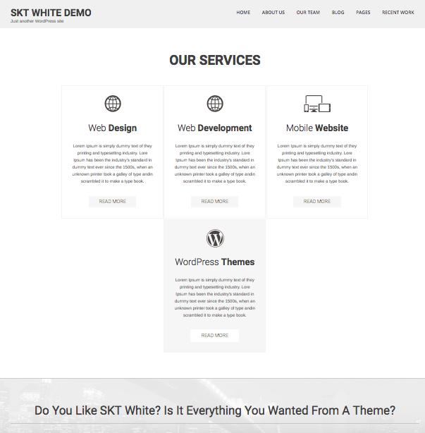 Temas Gratuitos WordPress - SKT White - dinapyme