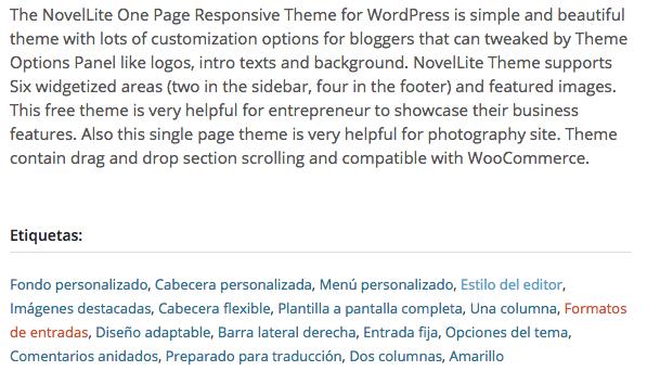 Temas gratuitos WordPress - Novel Lite