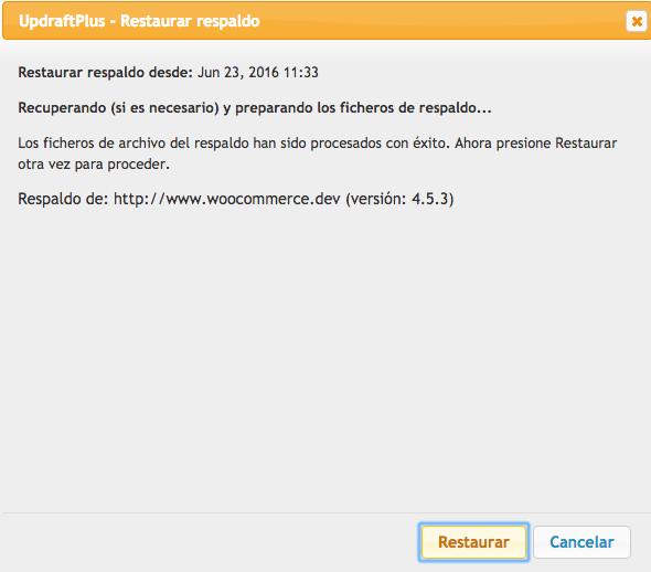 copias de seguridad de WordPress con updraftplus