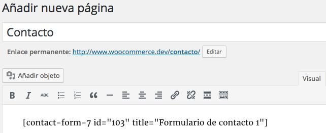 crear un formulario con Contact form 7