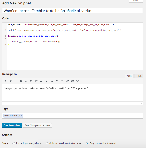 wordpress code snippets plugin 02 dinapyme