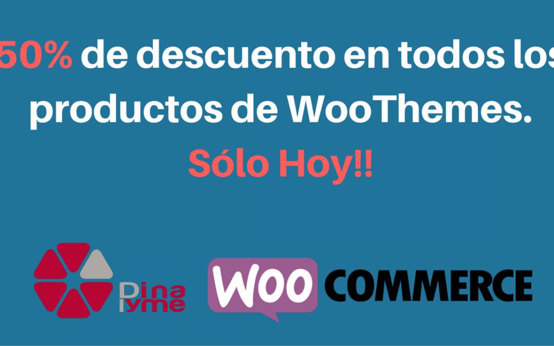 50% de descuento en todos los productos de WooThemes. Sólo Hoy!!