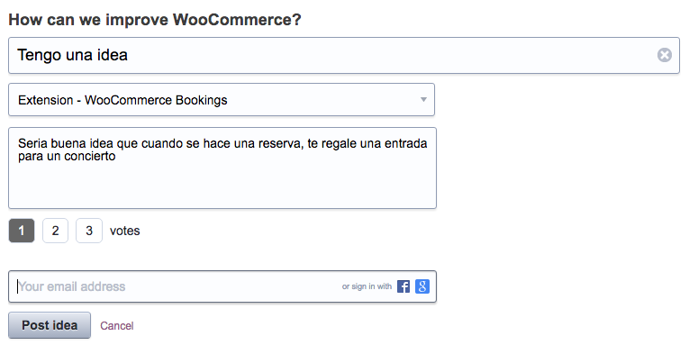 Tienes alguna idea para mejorar WooCommerce o alguna de sus extensiones - dinapyme