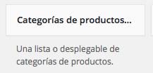 WooCommerce - Excluir Categorias de Productos del Widget - dinapyme