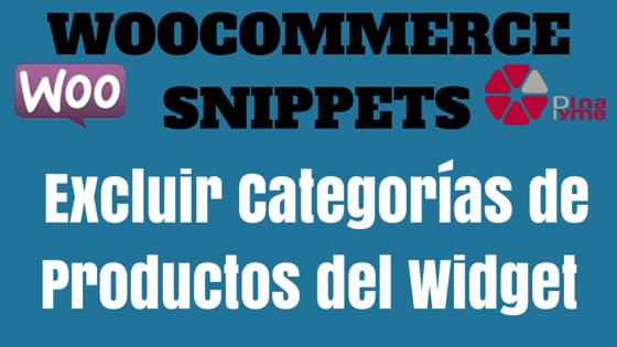 WooCommerce Snippet - Excluir Categorías de Productos del Widget