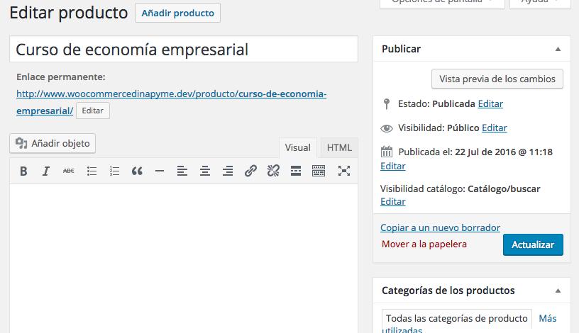 WooCommerce - Visibilidad de algunos productos - dinapyme