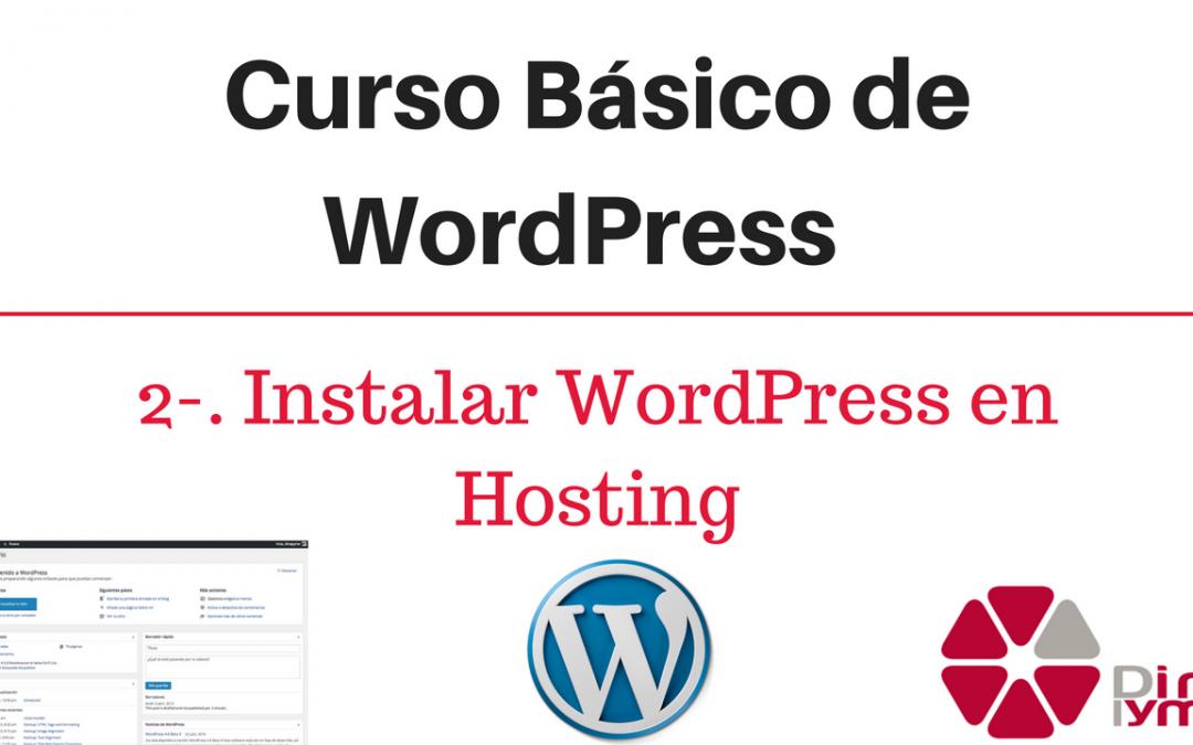 Curso Basico de WordPress - Instalar WordPress en hosting