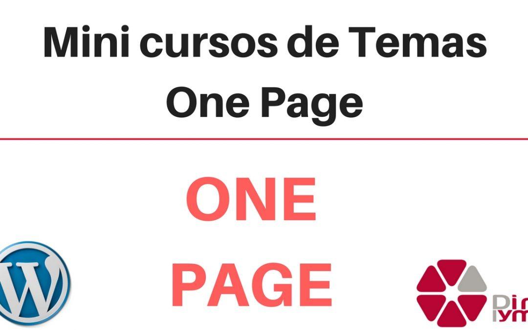 Mini cursos de temas wordpress one page