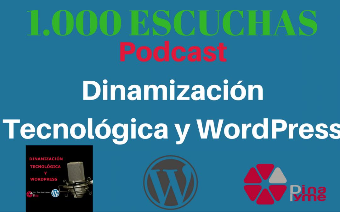 1000 escuchas del podcast dinamizacion tecnologica y wordpress