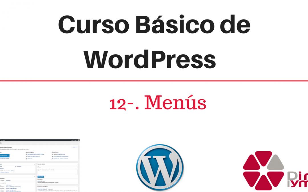 12- Curso Basico de WordPress - Menus