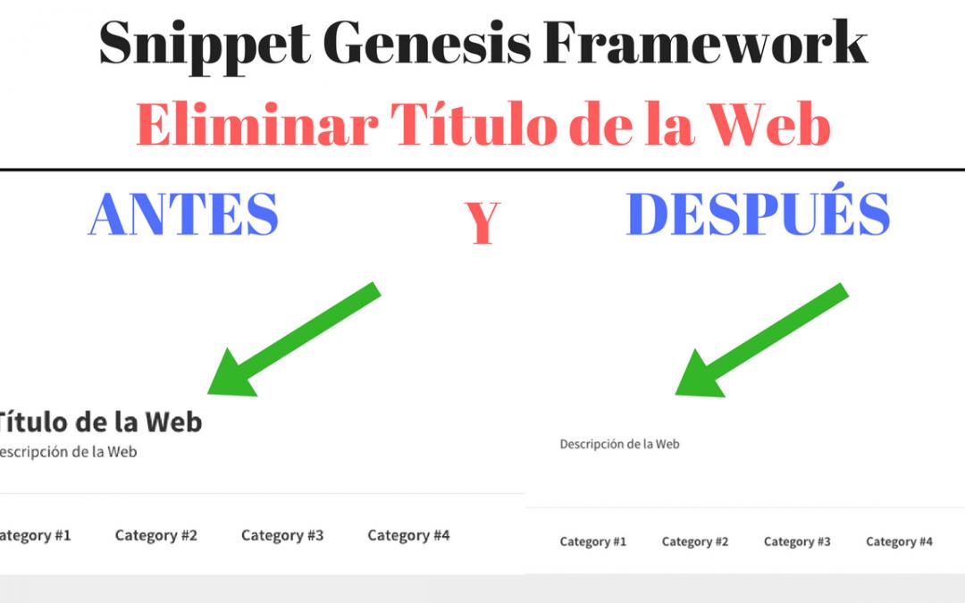 snippet-genesis-eliminar-titulo-web