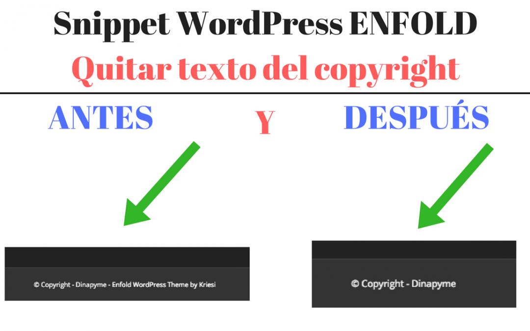 "WordPress Snippet: Quitar el texto ""Enfold WordPress Theme by Kriesi ..."
